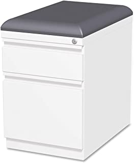 Lorell LLR49540 Mobile Pedestal File with Seating