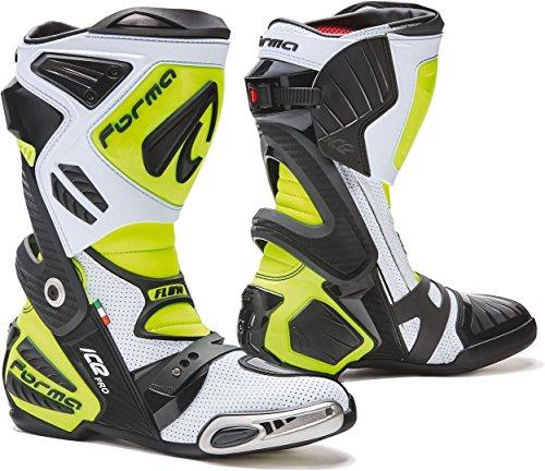 Forma Ice Pro Flow Motorradstiefel Weiß/Gelb 42