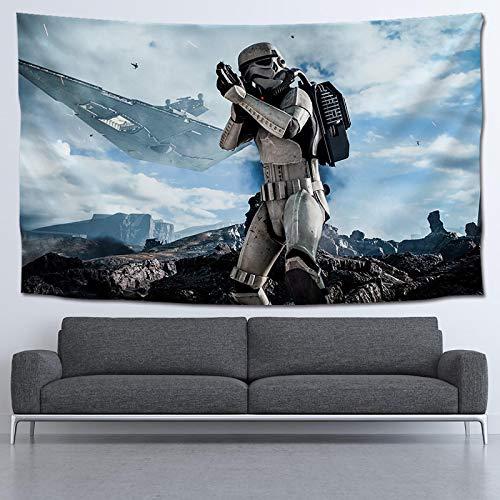 Cartel de la película de Star Wars, Tapiz de Tela Colgante, Fondo Rojo, Tapiz de Tela, Toalla de Playa, 100 * 60 CM P6C