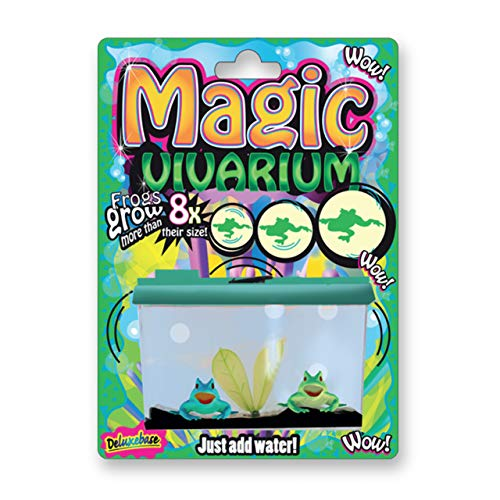 Magic Aquarium - Criaturas espeluznantes de Deluxebase. Cultiva Tus propias Ranas en Este Kit de pecera de Juguete para niños