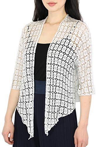 dy_mode Cardigan Damen Sommer Strickjacke Netz Bolero Dünne Strickjacke - CA031 (CA031-Hellbeige)