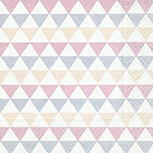Servietten (2er Set / 40Stück) 3-lagig 33x33cm Sommer Muster (Triangle pattern)