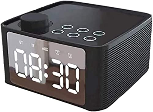 popular Wireless Speaker, Bluetooth outlet sale 5.0 Speaker Alarm Clock with Large Mirror Display Screen, 3 Brightness Adjustment, 3.5mm Aux Line-in TF Card Play, Alarm popular Clock for Bedroom, Loud Alarm for Heavy Sleepers sale