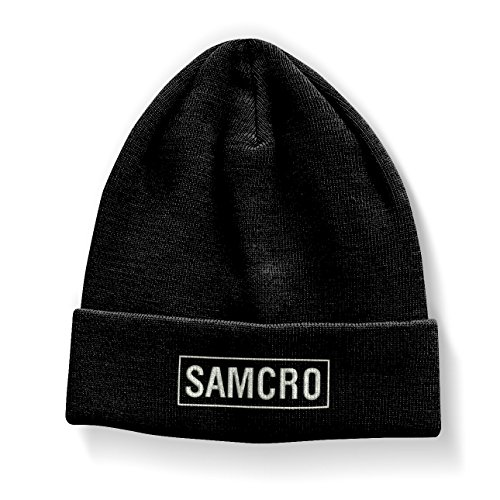 Sons of Anarchy Officiellement Marchandises sous Licence Samcro Brodé Bonnet (Noir)