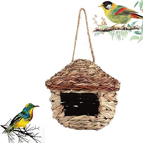 ZXL Kunstmatig Vogelnest, Vogelhuisje om buiten op te hangen, Handgeweven Rietnestkooi voor, Outdoor Natuurlijke Vogelhuisje voor Plantenaccessoires Thuis Natuurornamenten