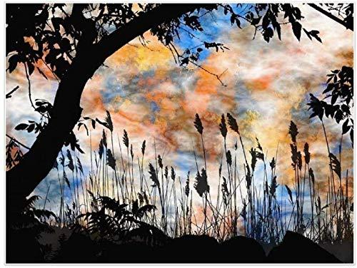 Juego de pintura digital para adultos color sky-pintura al óleo de bricolaje para adultos niños pintados a mano y pintura al óleo hecha a mano para adultos regalo creativo 40x50cm