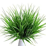 Lvcky, 4piante artificiali realistiche, erba verde di grano, arbusti in plastica, cespugli per esterni, ideali per casa, tavolo, cucina, ufficio, matrimoni, giardino, veranda e cimitero