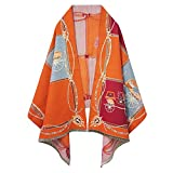 EXTREE Scarfs for Women Pashmina Silky Shawl Wrap for Evening Dressing Horse Scarf Blanket Open front Poncho Cape Cardigan
