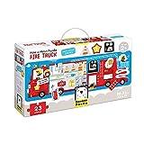 Banana Panda- Fire Truck, Shapes Puzzle, Actividad de asignación, Juego (Bright Junior Media z o.o. SP. k. 49044)