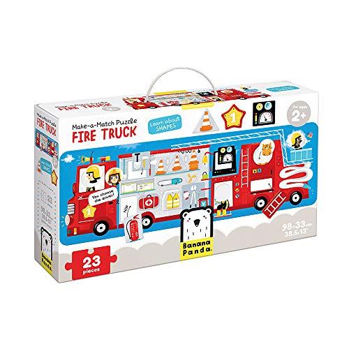 Banana Panda 49044 Fire Truck, Shapes Puzzle, zuordnungsaktivität, Spiel