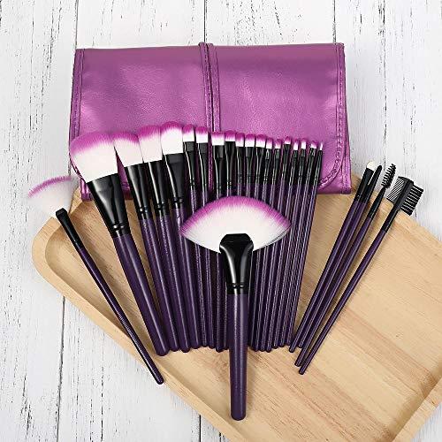 Pinceaux de maquillage 24 ensembles professionnels Dense Soft Soft Powder Blush Fard à paupières Foundation Highlight Concealer Full Tool Brush-24 vio