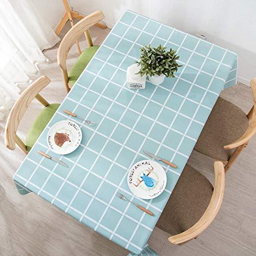 PengMu tafelkleed, vuilafstotend, mintgroen, wegwerpplaid van PVC, afwasbaar, onderhoudsvriendelijk, stofdicht voor eettafel