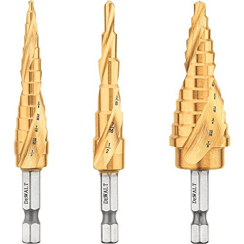 DEWALT Step Drill Bit Set, 3-Piece (DWA1790IR)