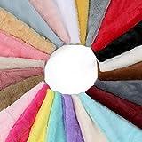 Neotrims Sehr weicher, leichter, angenehmer Stoff, Nerzimitat, 7Farben, geeignet als Fotohintergr& & für Schneiderarbeiten, perfekt für Babys, Stoff für Kuscheldecken, Überwürfe, Tagesdecken, Meterware, Polyester, Elfenbein, 1 Meter