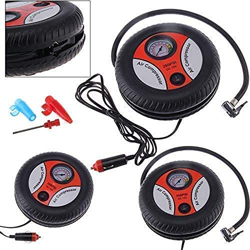 Sentiment Black Electric Mini Dc 12V Air Compressor Pump for Car and Bike Tyre