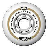 HYPER Des Rueda P Fitness Bullzeye76-82A 4D patín Patinaje, Adultos Unisex, Blanco (Blanca), 76mm/82a