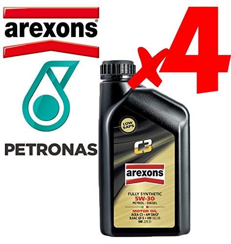 Olio Motore 5w30 Petronas/AREXONS C3 Sintetico da 4 L Litri per Motori Benzina e Diesel GPL e metano