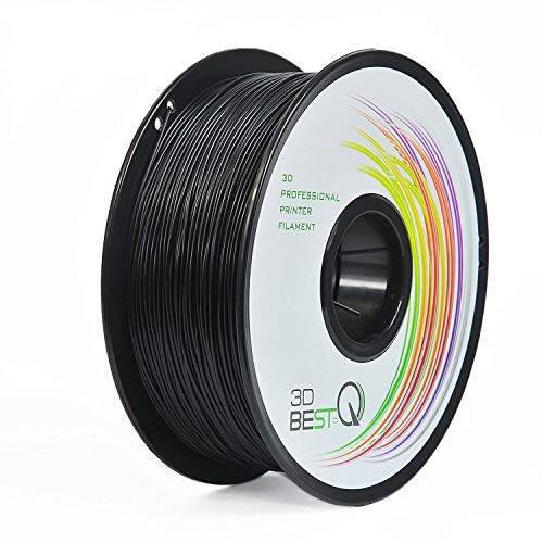 3D BEST-Q PETG 1.75MM Black 3D Printer Filament, Dimensional Accuracy +/- 0.03 mm, 1KG Spool, Black