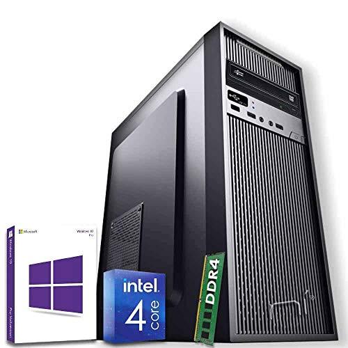Pc desktop assemblato intel quad-core 8gb ram DDR4 500gb hard disk windows 10 pro con licenza wifi incluso hdmi