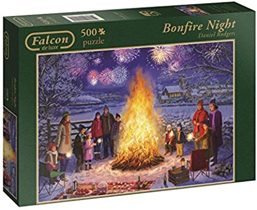 Falcon de luxe Bonfire Night Jigsaw Puzzle (500-Piece) by Jumbo