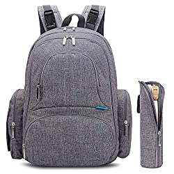01f9550f90ff6 If you are looking for a diaper bag with lots of function, look no further  than the CoolBELL Baby Diaper Backpack.