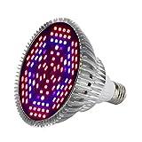 Uonlytech - Bombilla LED para plantas de interior (18 W, 120 ledes, para plantas de jardín, acuario, verduras)
