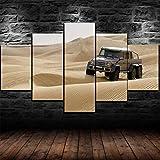 COCOCI 5 Piezas De Lienzo Ben G 63 AMG 6x6 Desert Car Wall Art Decor Lienzos Decorativos XXL Cuadros Modernos Baratos Cuadros para Pasillo Cuadros Decorativos Cuadros para Dormitorios Modernos