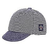 Gorra de béisbol para bebés y niñas, sombrero de sol, de algodón puro, para recién nacido, ajustable, para niños de 3 a 12 meses