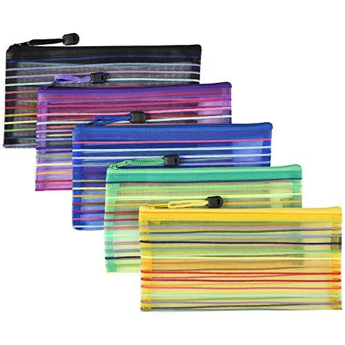 Irich 15 Pezzi Portatile B6 Busta per Documenti con Cerniera per Viaggio Uffici Scuola (Colori Assortiti, Uomo o Donna)