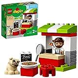 LEGO10927DUPLOTownPuestodePizzaJuguetedeConstrucciónparaNiñosyNiñas+2añosconMiniFigurayFiguradelPerro