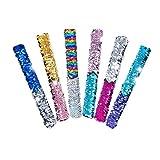 Holibanna 12Pz Schiaffi Cinturino con Paillettes Glitter Braccialetti Regalo Regalo per Bambini Bambini Festa di Compleanno Allaperto per Bambini