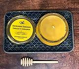 Pure Vanilla Cinnamon Beeswax Candle - Vanilla Cinnamon Honey Candle - Handmade, 8oz