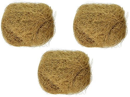 Prevue Pet Products (3 Pack) Sterilized Natural Coconut Fiber for Bird Nest