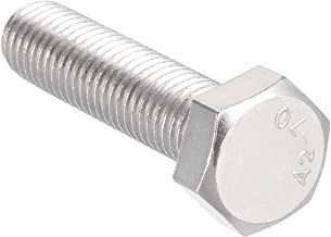 uxcell M12 Thread 50mm 304 Stainless Steel Hex Left Hand Screw Bolts Fastener