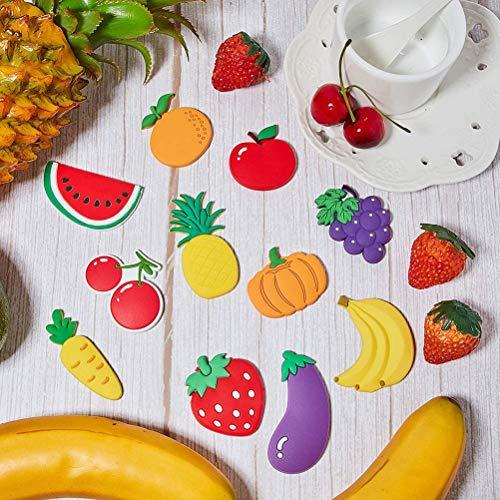 BOQIAN Imitación de frutas magnéticas para nevera, pegatinas magnéticas de goma, pegatinas para niños (10 unidades)