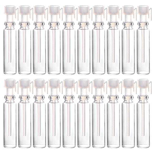 Minkissy 50pcs 1ml Perfume Sample Bottles Empty Mini Glass Bottles With Drop For Home Travel Essential Oils Aromatherapy Fragrance Refillable Containers