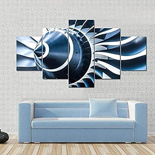 5 pezzi stampa per dipinti poster opere d arte moderna su tela wall art per la casa e l ufficio pittura modulare dimensione totale motore a getto automatico