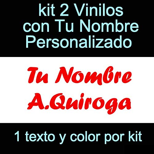 Vinilin - Pegatina Vinilo Tu Nombre o Texto Personalizado - Bici, Casco,...