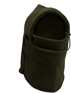 TRIXES Unisex Half Face Fleece Balaclava Hood – Green - One Size