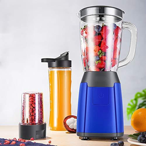 Cpippo Küchenmaschine Multifunktional, Food Processor, Mixer für Babykostzubereitung mit 300W Reinkupfermotor, DREI Tassen, Zwei Messerköpfe, Ideal zum Entsaften, Mischen, Mahlen, 1200 ml, Kein BPA