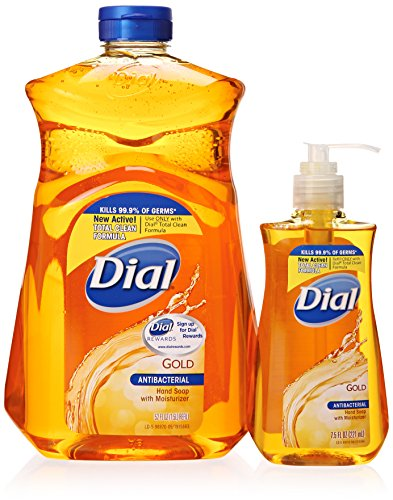 Dial Gold Antibacterial Liquid Soap with Moisturizer, 7.5 ounce Pump Bottle and...