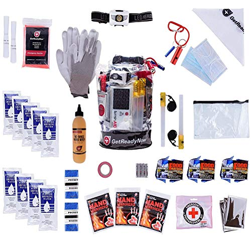GETREADYNOW | 72-Hour Grab & Go Emergency Survival Kit | Essential Emergency Supplies for 3 Days -...
