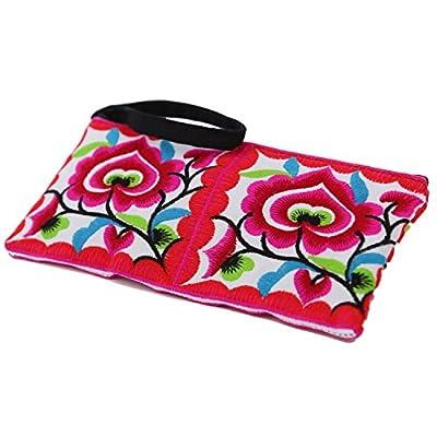 Sabai Jai - Small Accessory Bag - Floral Embroidered Wristlets for Women