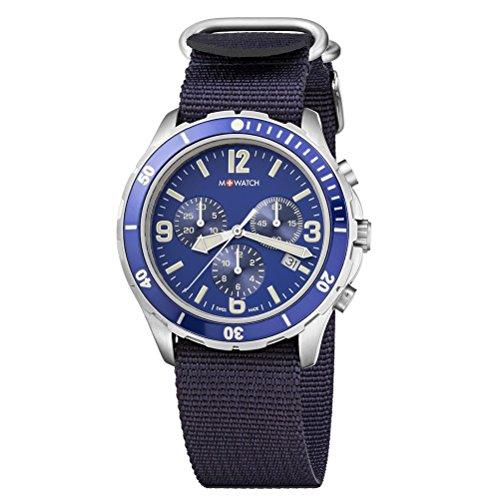 M-WATCH Herren-Armbanduhr Aqua Steel Analog Quarz WBD.14440.ND
