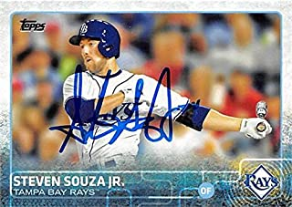 Steven Souza Jr. autographed baseball card (Tampa Rays) 2015 Topps #537 - Baseball Slabbed Autographed Cards