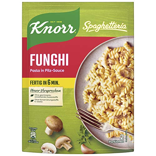 Knorr Spaghetteria Funghi Fertiggericht Pasta (in Pilz-Sauce) 1 x 150 g