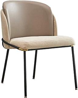 Cesto sucio Silla de Comedor Elegantes piernas Comedor Silla con Respaldo Medio Silla Moderna de Apoyo tapizada con el Metal for Las sillas de Cocina de Cocina Mesa Plegable