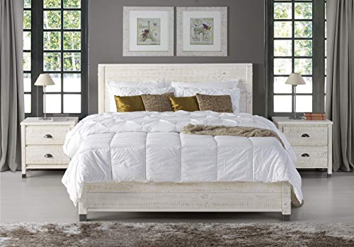 Camaflexi Baja Platform Bed, King Size, White