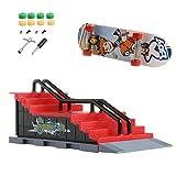 WT-YOGUET Skate Park Ramp partes para Tech Deck diapasón dedo tablero último parques nuevo