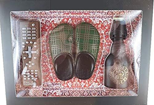 02#101021 Schokolade Feierabend Set, Couch Potato Set, Fernbedienung, Pantoffel, Bierflasche, Geburtstag, Vatertag, Tortenverzierung,Tortenverzierung,